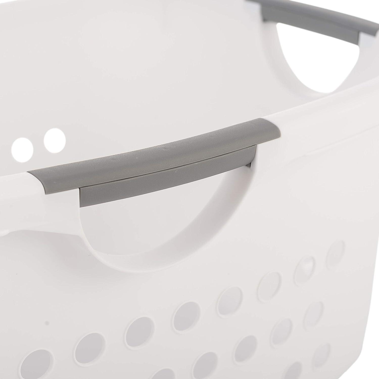 Iris Ohyama 40 L Hip Hold Hamper EUHL blanco gran cesta // cesto de la ropa 59 x 39 x 25 cm plastico