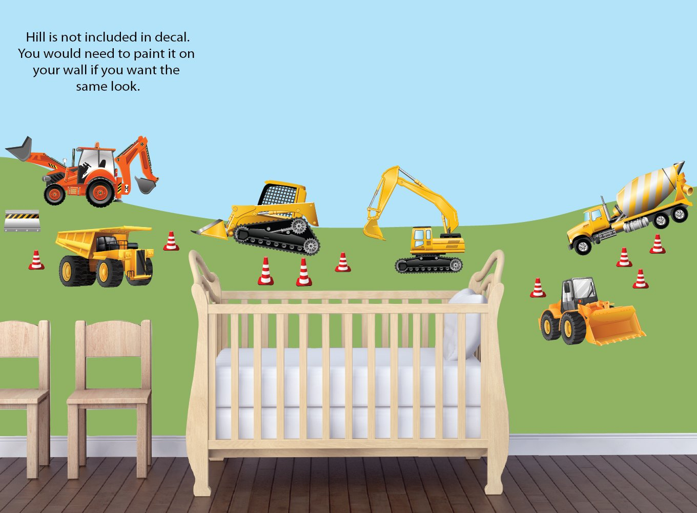 Amazon boys room dcor construction truck wall stickers baby amipublicfo Images
