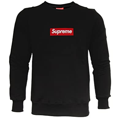 Supreme Men s Jumper Black Black - Black - X-Large  Amazon.co.uk ... 8323e0397c2c