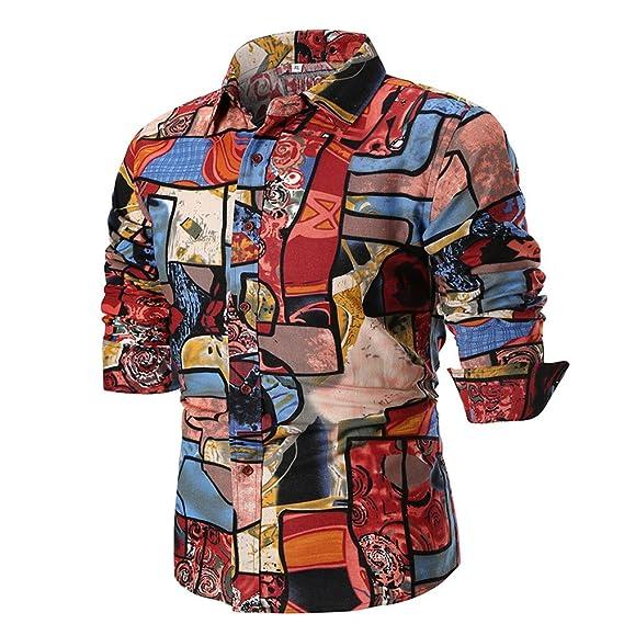Trajes Ocasionales Formales Oxford de la Manga Larga para Hombre Camisas de Vestir Ajustadas de la Camiseta de la Blusa por Internet: Amazon.es: Ropa y ...