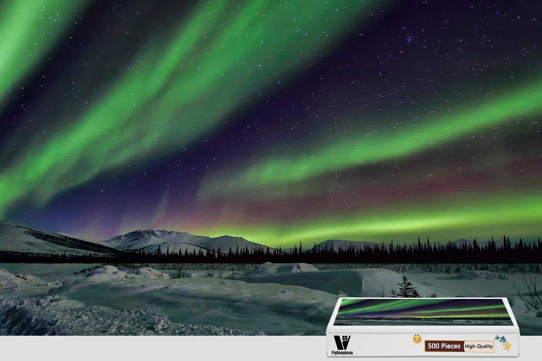 逆輸入 pigbangbang B07F7ZWM3D、20.6 Sky X 15.1インチ Jigsaw接着剤木製、Stainedアートパズルfor Kids Adult Have Jigsaw接着剤木製 – Northern Lights Sky Night Winter Star – 300ピースジグソーパズル B07F7ZWM3D, 2019最新のスタイル:9c27a202 --- 4x4.lt