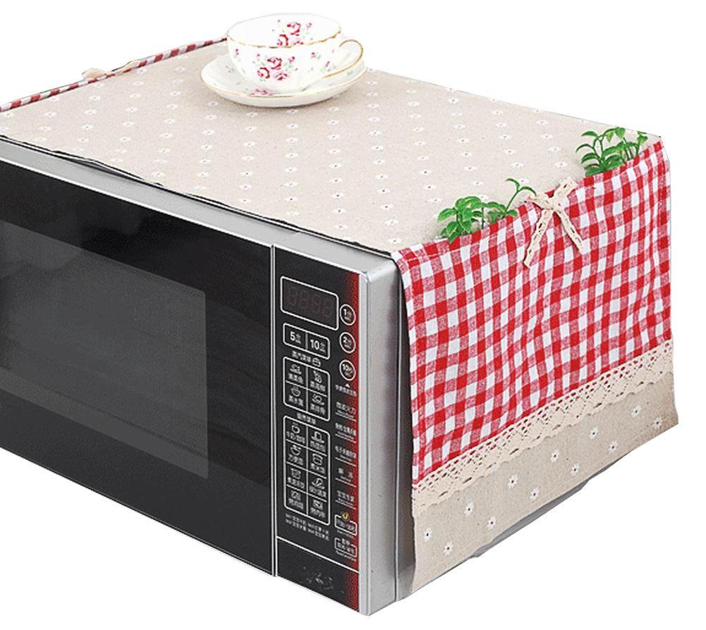 Beige] Belle funda de protección antipolvo de horno de microondas ...