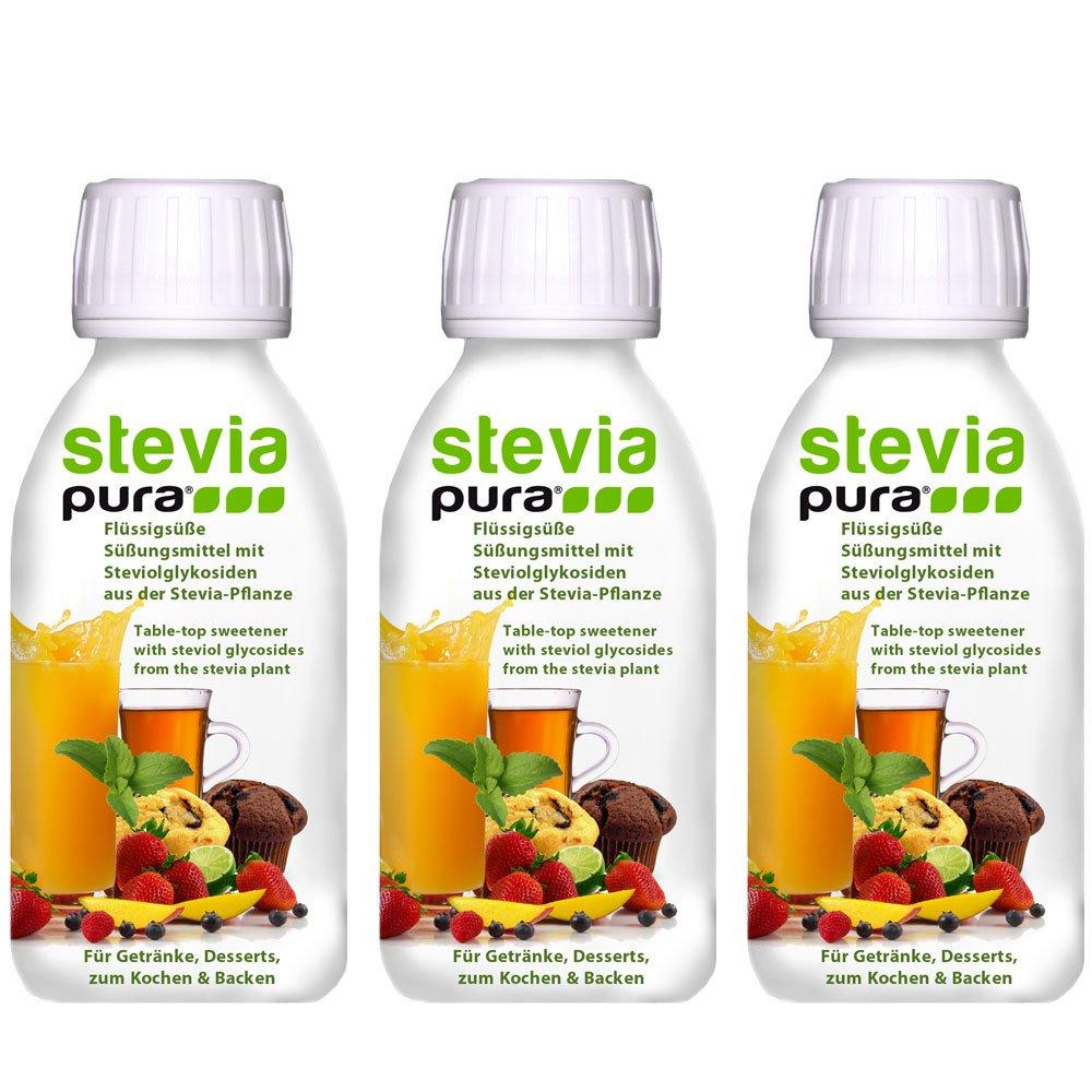 steviapura - Stevia flüssig Tafelsüße 3 x 150ml - OHNE FRUCTOSE ...