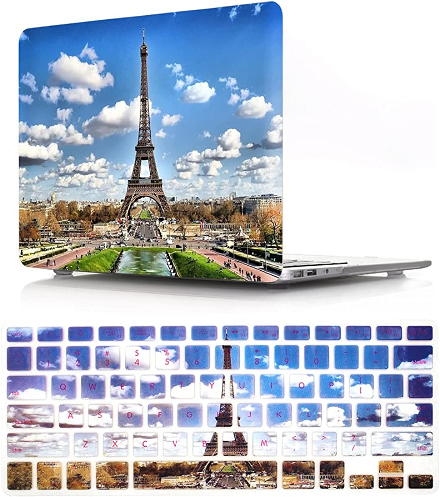 HRH 2 in 1 Cool Design PC Plastic Hard Case Cover and Silicone Keyboard Cover for MacBook Air 13.3