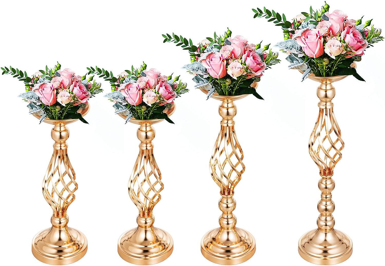 VEVOR 11STK Blumen Standplatz Metallvasen Standplatz 103 cm Mittelst/ücke Blumenst/änder Metallregal Rechteck Regal Hochzeitsfest Dekoration F/ür Hochzeit Gold