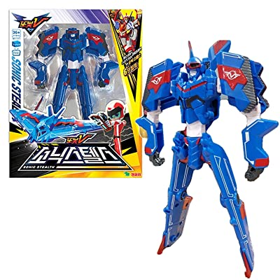 Tobot V Sonic Stealth Transforming Robot Action Figure Toy: Toys & Games