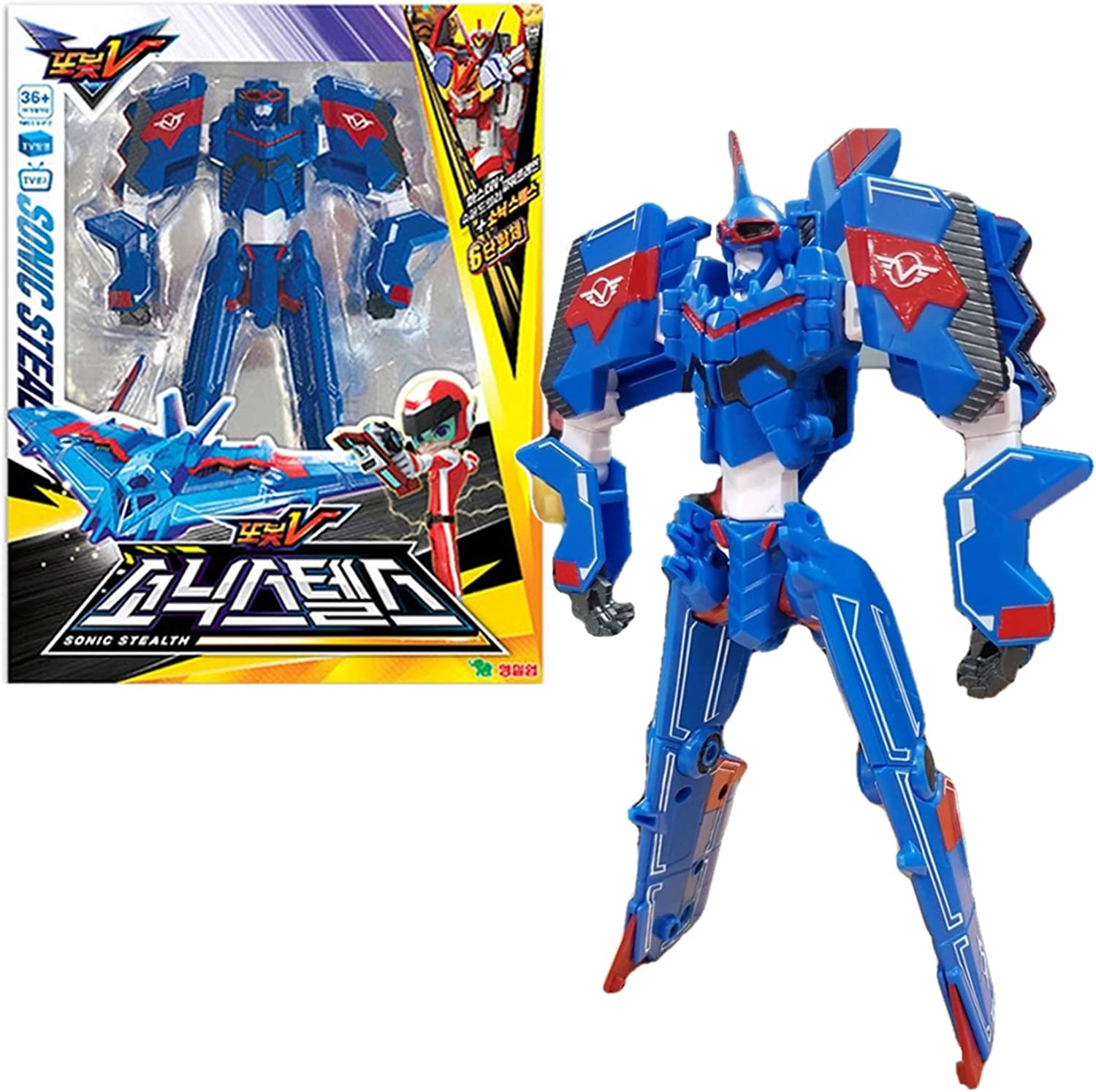 Tobot V Sonic Stealth Transforming Robot Action Figure Toy