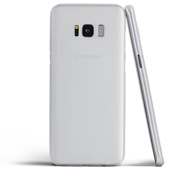 finest selection 37dfa df7fc totallee Galaxy S8 Case, Thinnest Cover Premium Ultra Thin Light Slim  Minimal Anti-Scratch Protective - for Samsung Galaxy S8 (Frosted White)