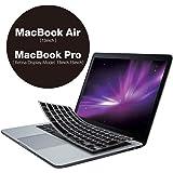 エレコム キーボードカバー Apple MacBookAir13 Pro13 Pro15inch シリコン バックライト対応 ブラック PKC-MACB10CBK