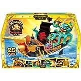 Treasure X Sunken Gold Treasure Ship Playset - 25 Levels of Adventure | Find Guaranteed Real Gold Dipped Treasure…