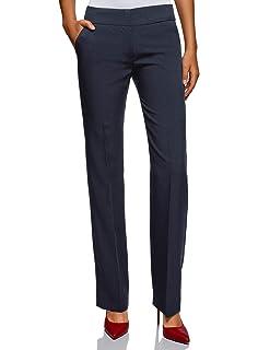 oodji Ultra Mujer Pantalones con Pinzas