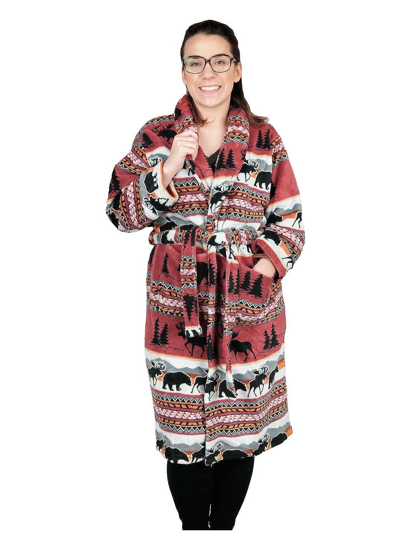 5aad018fe1 Sunshine Joy Earth Ragz Coral Fleece Women s Bath Robe Bear Adventure SM MD  at Amazon Women s Clothing store