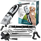 Pet Union Professional Dog Grooming Kit - Rechargeable, Cordless Pet Grooming Clippers & Complete Set of Dog Grooming Tools.