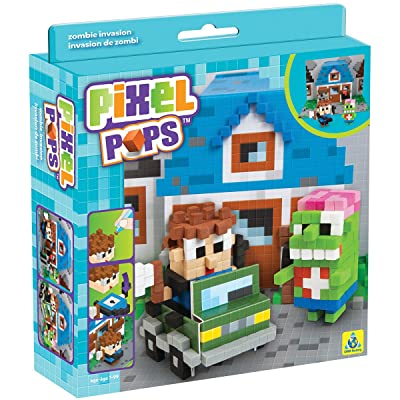 The Orb Factory Pixel Pops Zombie Invasion Building Kit: Toys & Games