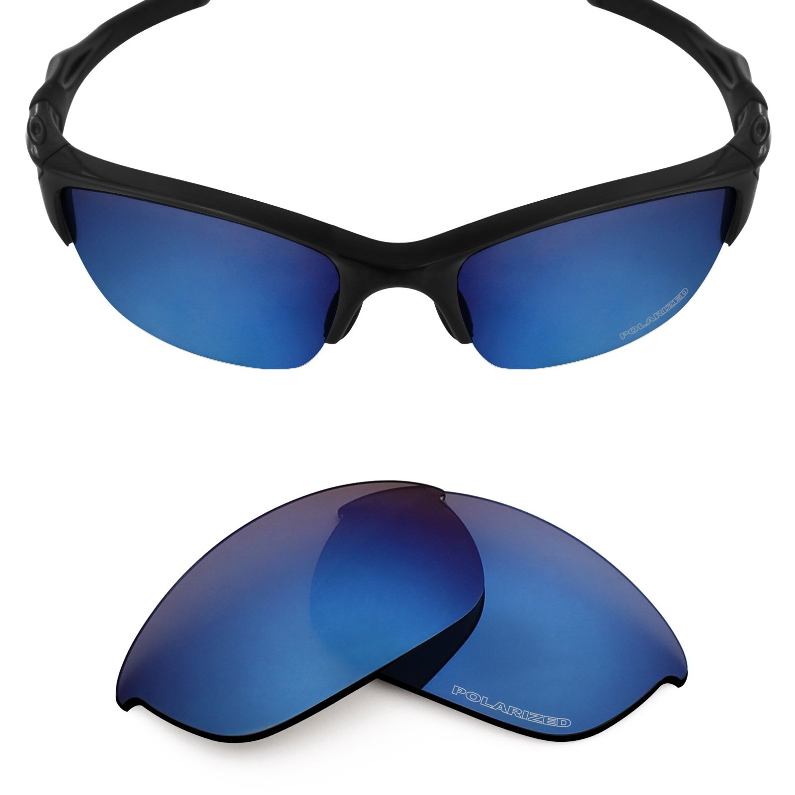 Mryok+ Polarized Replacement Lenses for Oakley Half Jacket 2.0 - Pacific Blue