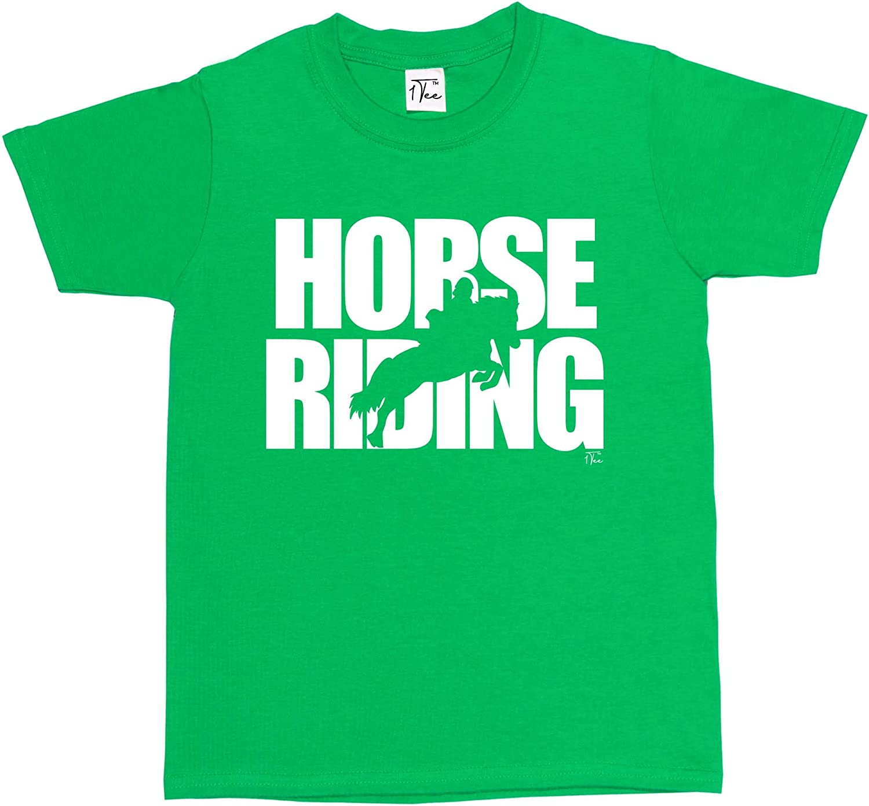 Horse Jumping Silhouette T-Shirt 1Tee Girls Horse Riding