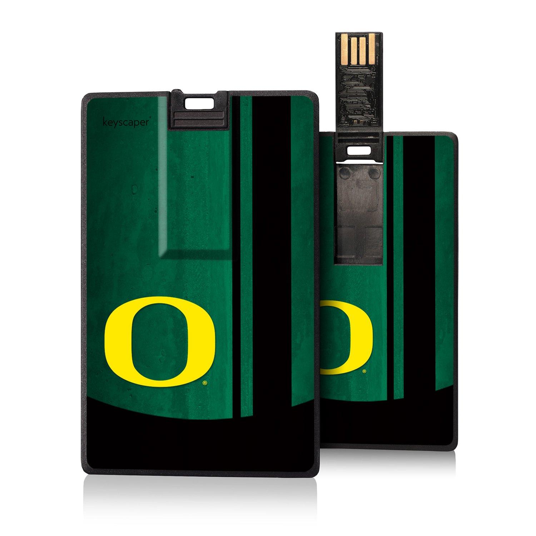 Oregon Ducks 8GB Credit Card Style USB Flash Drive officially licensed by the University of Oregon Slim Thin Sleek Flip Out Plug by keyscaper®