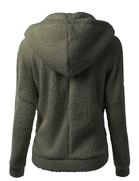 Perfectii Damen Sweatjacke, Reißverschluss Fleece Kuscheljacke Hoodie  Kapuzenpullover Mädchen Einfarbig Warme Bluse Sweatshirt Pullover Tops   Amazon.de  ... 96d493e798