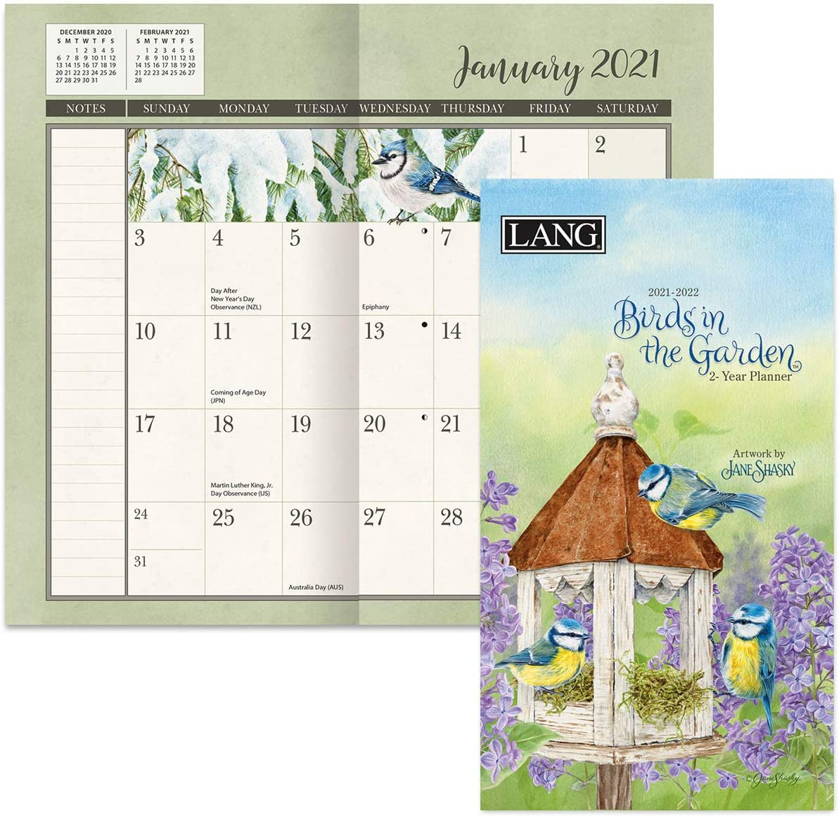 Lang Birds in The Garden 2021 Two Year Planner (21991071093)
