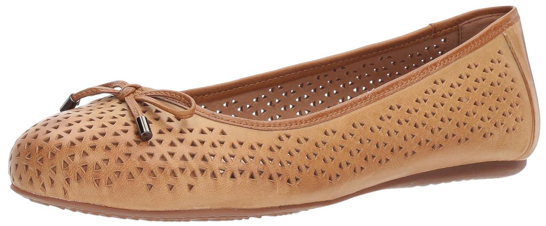 [Softwalk] Womens Napa Laser Closed Toe Slide Flats [並行輸入品] B073BRJYFZ 6.0 W US|タン タン 6.0 W US