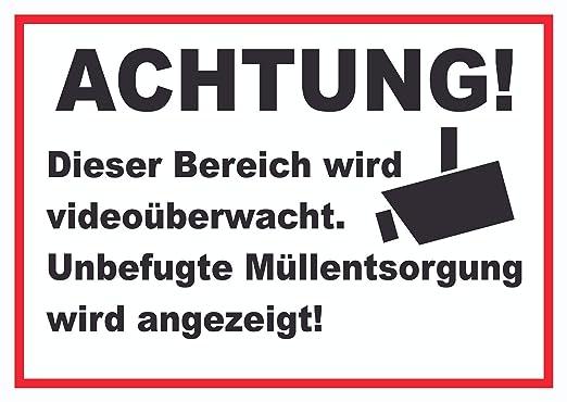 Advertencia Videovigilancia No autorizado eliminación de ...