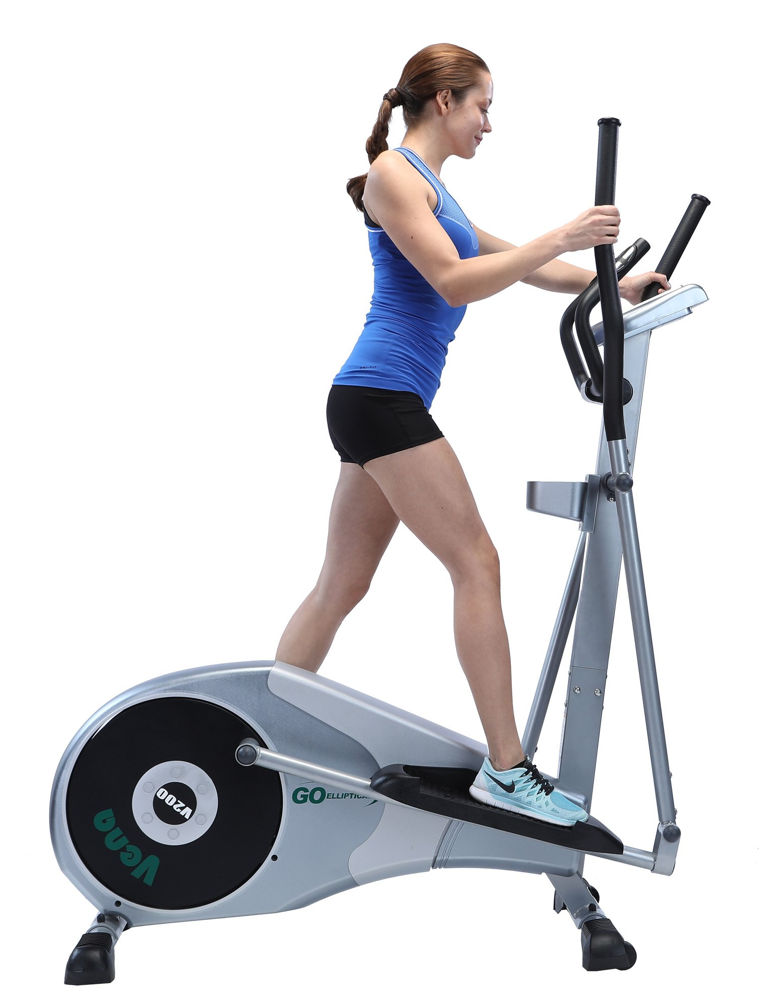 GOELLIPTICAL V-200 Stand Stride 17'' Elliptical Exercise Cross Trainer Machine for Cardio Fitness Strength Conditioning Workout at Home or Gym