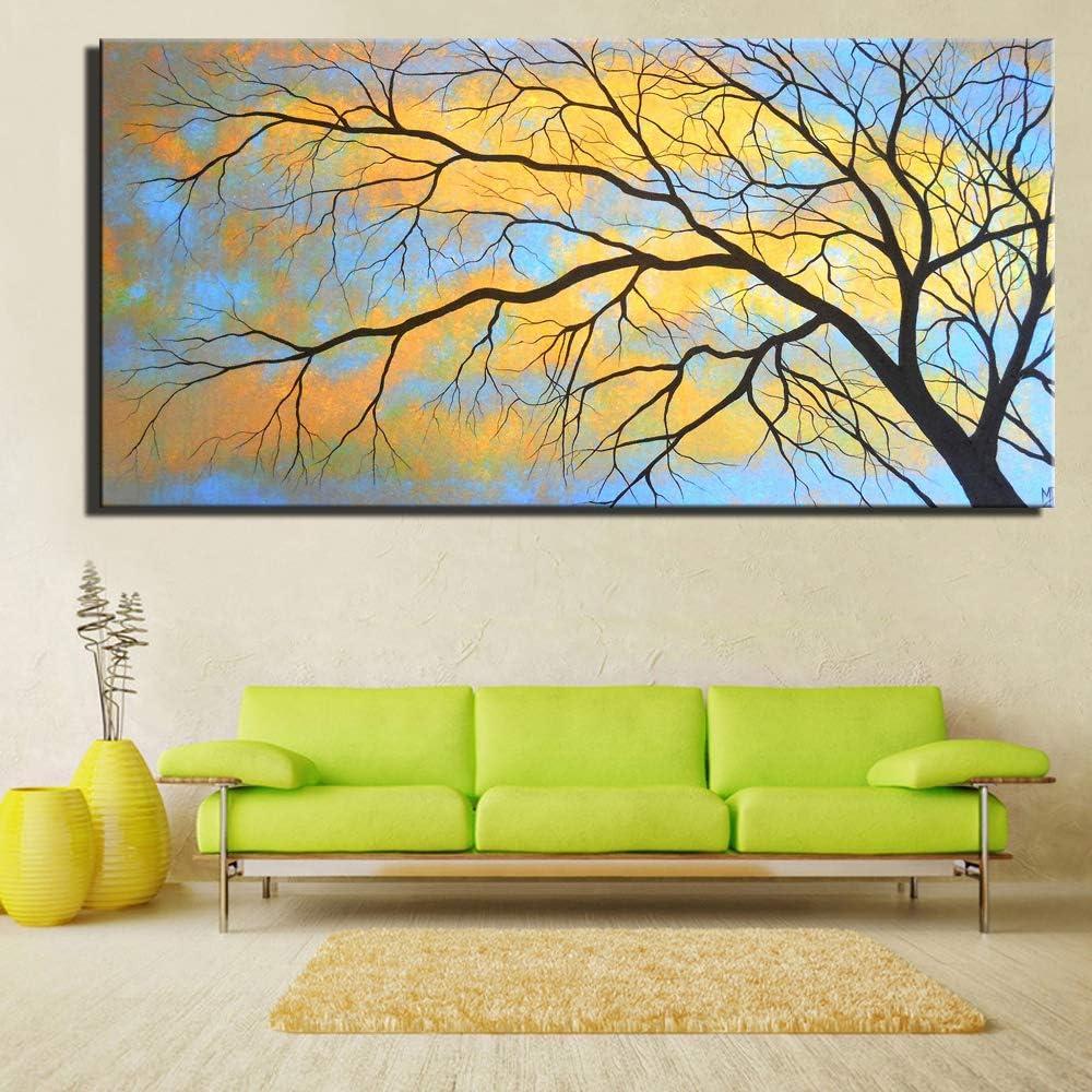zgldx73 Pintura del Paisaje Natural Pintura del árbol para la Pintura de la decoración de la Sala de estar40x80cm sin Marco
