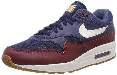 new styles 916e7 8f70b Nike Men s Air Max 1 Gymnastics Shoes, Blue (Navy Team Red Sail 400