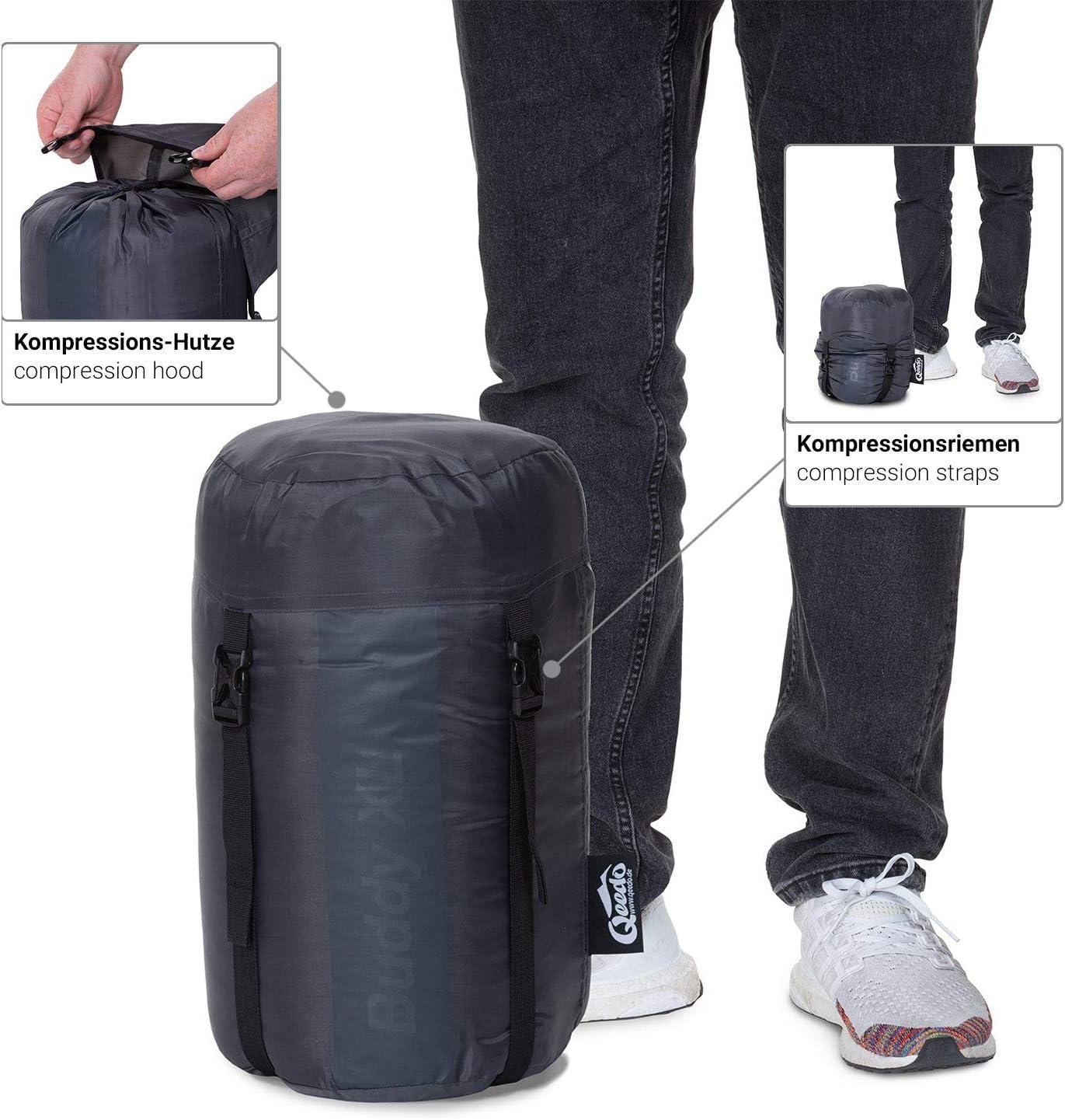 long Qeedo Buddy XL large sleeping bag mummy Best Shape /& Soft Touch extra wide