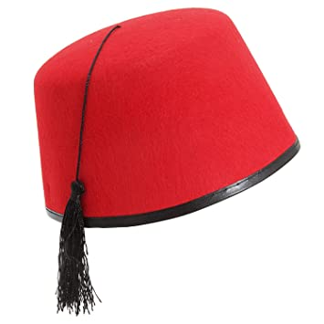 624d5de72d5ae Unisex Red Fez Hat Tarboosh Tommy Cooper Moroccan Turkish Fancy Dress  Accessory
