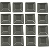 """JSP Manufacturing 16 Pack Fence Post Plastic Black Caps 4X4 (3 5/8"""") Pressure Treated Wood Made in USA"""