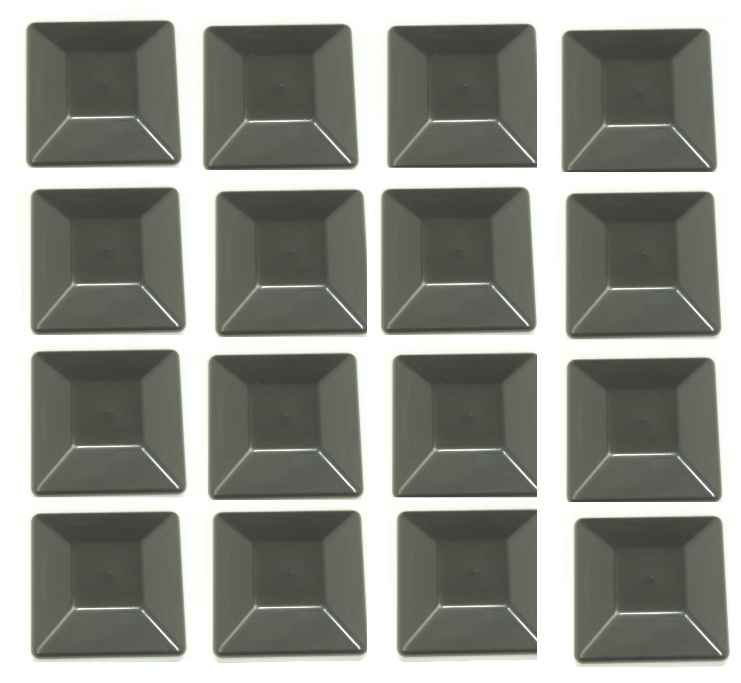 JSP Manufacturing 16 Pack Fence Post Plastic Black Caps 4X4 (3 5/8'') Pressure Treated Wood Made in USA by JSP Manufacturing