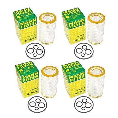 4 Packs MANN Oil Filter HU718/5X for BENZ - W204 W211 ML R171 VITO: Automotive