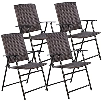 joy outdoor rattan folding index chair chairs wicker leisure foldable furniture