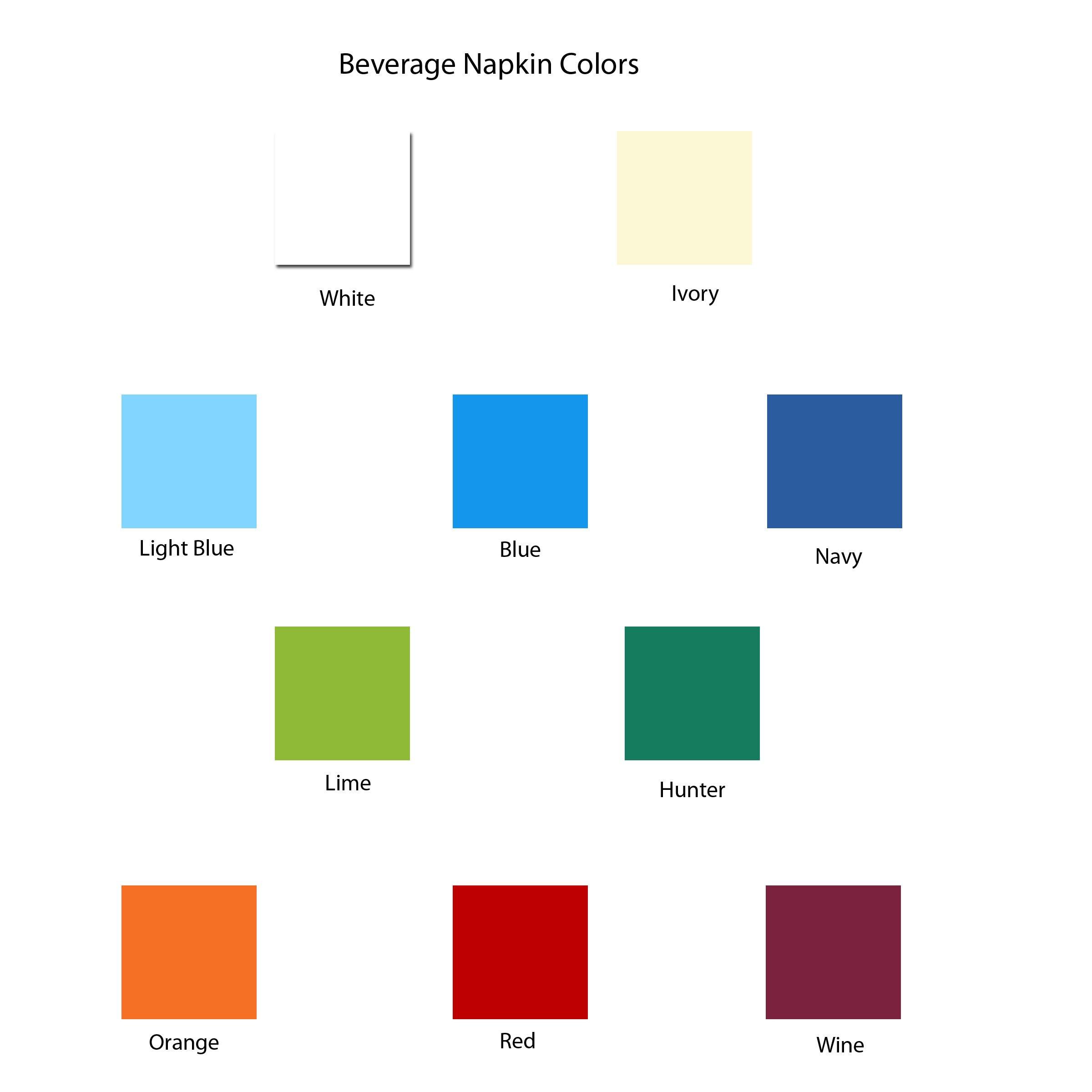 Custom Foil Napkins - Beverage - with Monogram - 3279M