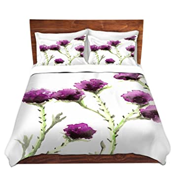 Beautiful DiaNoche Designs Brazen Design Studio Milk Thistle Brushed Twill Home Decor  Bedding Cover, 6