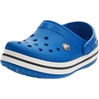 Crocs Crocband Clog K, Zuecos Unisex Niños, 32/33 EU, Azul (Bright Cobalt/Charcoal)