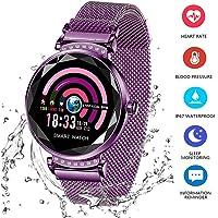 Wysgvazgv Fitness Tracker pour Femme H2 Montre Connectée Bracelet Connecté Podomètre Cardio Moniteur de Sommeil Fréquence Cardiaque Pression Artérielle Écran IP67 pour Samsung Sony Huawei Android iOS