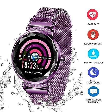 Smart Watch para Mujeres H2 Pulsera Actividad Inteligente con Pulsómetro Impermeable IP67 Podómetro Pulsera Deportiva Monitor