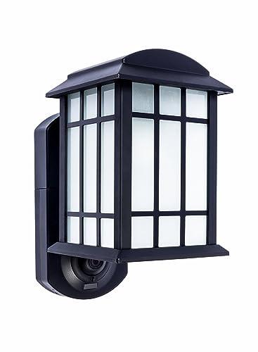 Maximus Smart Home Security Outdoor Light & Camera - Craftsman Black