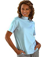 UltraSofts by National Cotton-Polyester Mock Top