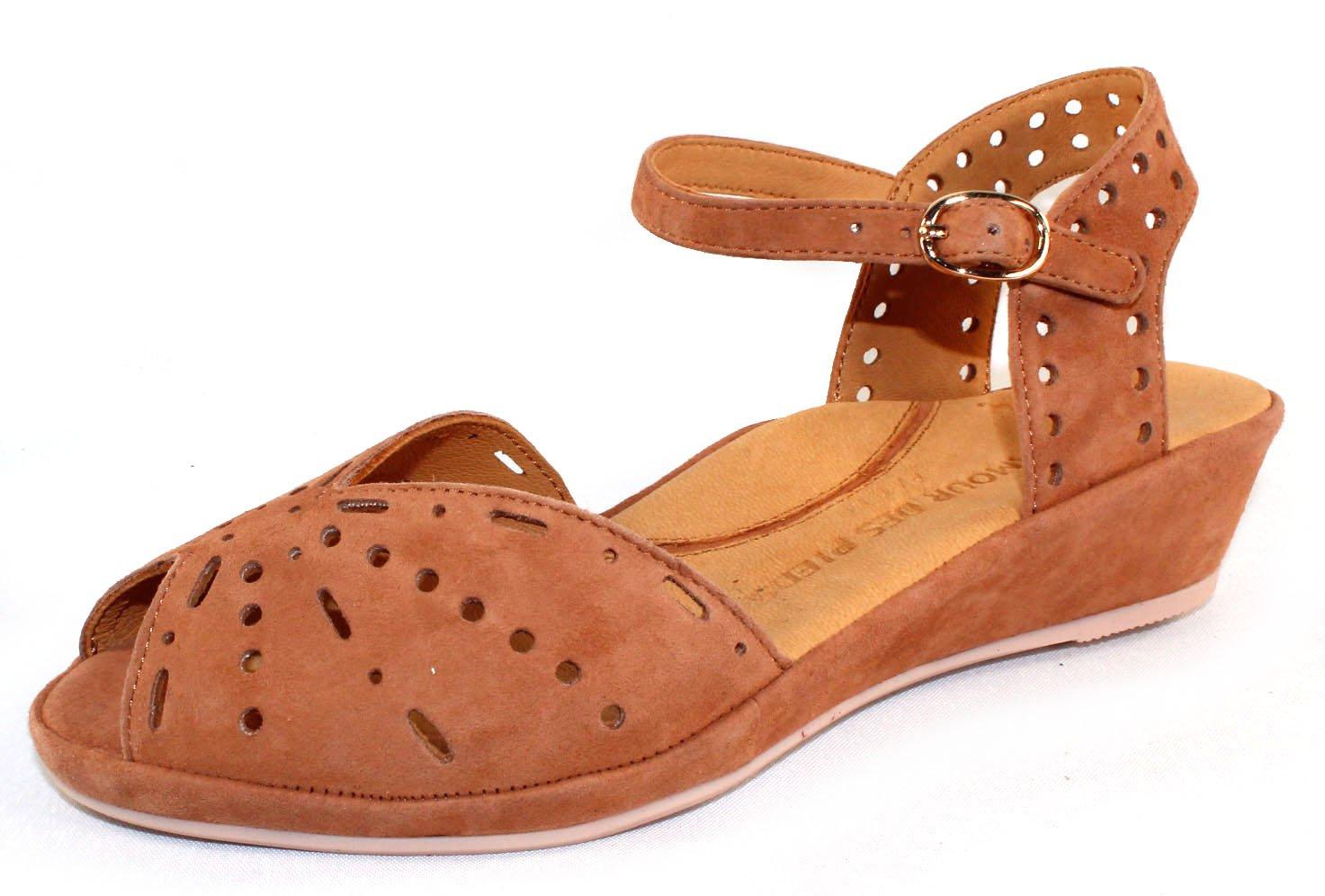 L`Amour Des Pieds Womens Brenn Cognac Sandal - 6.5 M