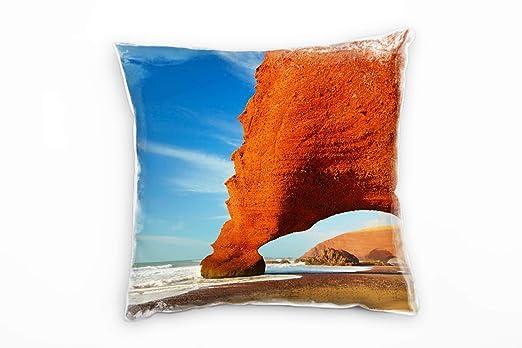 Paul Sinus Art playa y mar, azul, naranja, Marruecos rocas ...