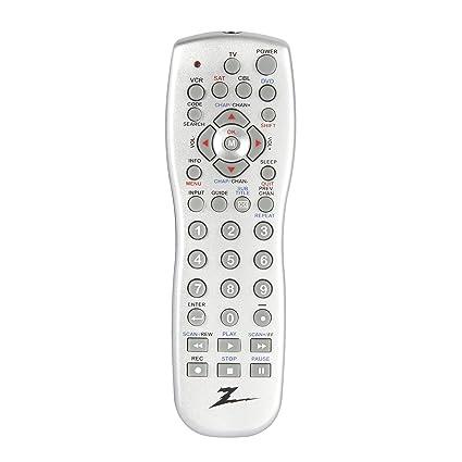amazon com amertac zenith zp505 5 device universal remote silver rh amazon com Zenith TV Remote Control Codes zenith zp505 universal remote control manual