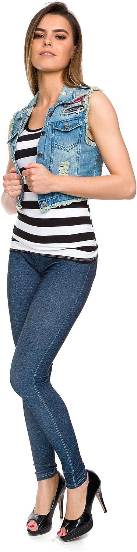 FUTURO Fashion Jeans Femme Imitation Stretchy Leggings Taille Haute Souple Aspect Denim Pantalon FS9742