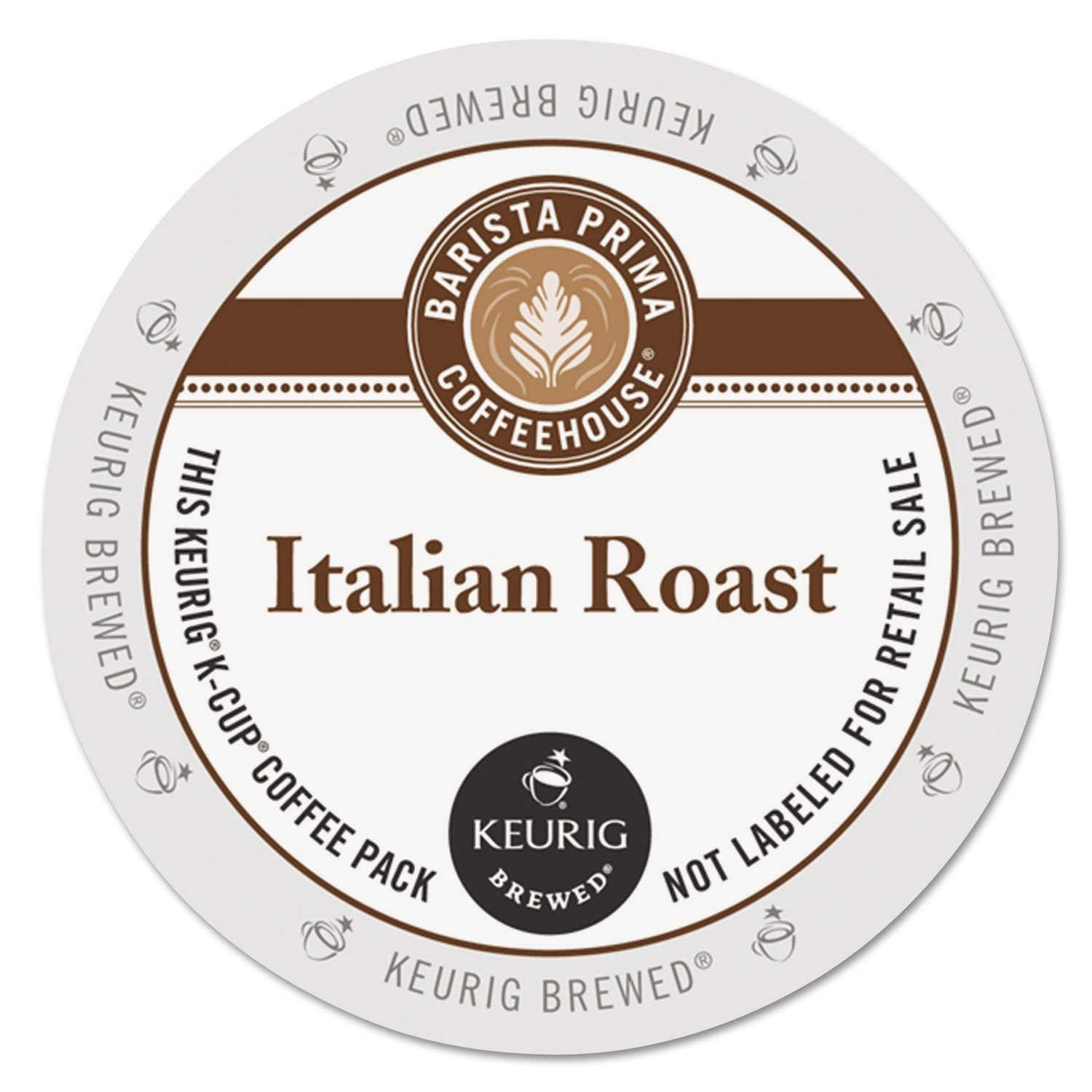 Barista Prima Coffeehouse Italian Roast Coffee K-Cup for Keurig Brewers, Italian Roast Coffee (Count of 96) - Packaging May Vary by Barista Prima
