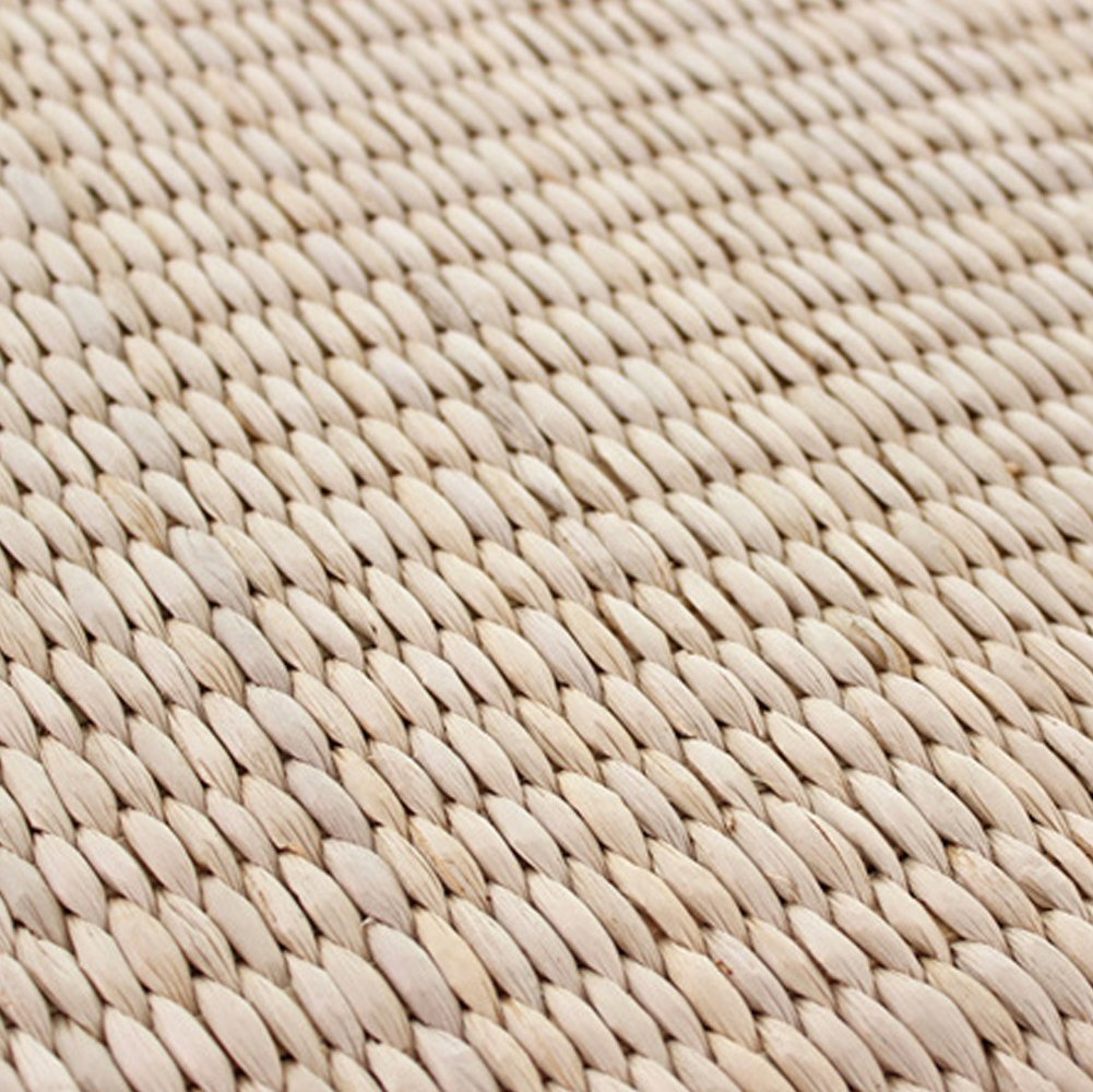 Tatami Straw Braid Rushwork Zafu Cushion Hand Knitting Yoga Meditation Pillow (A, Arrow) blue--net
