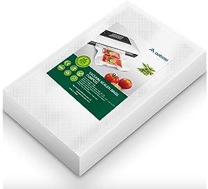 Aobosi Vacuum Sealer Bags Vacuum Food Sealer Rolls BPA Free & LFGB Approved Food Storage Bags 100 Quart Size 8