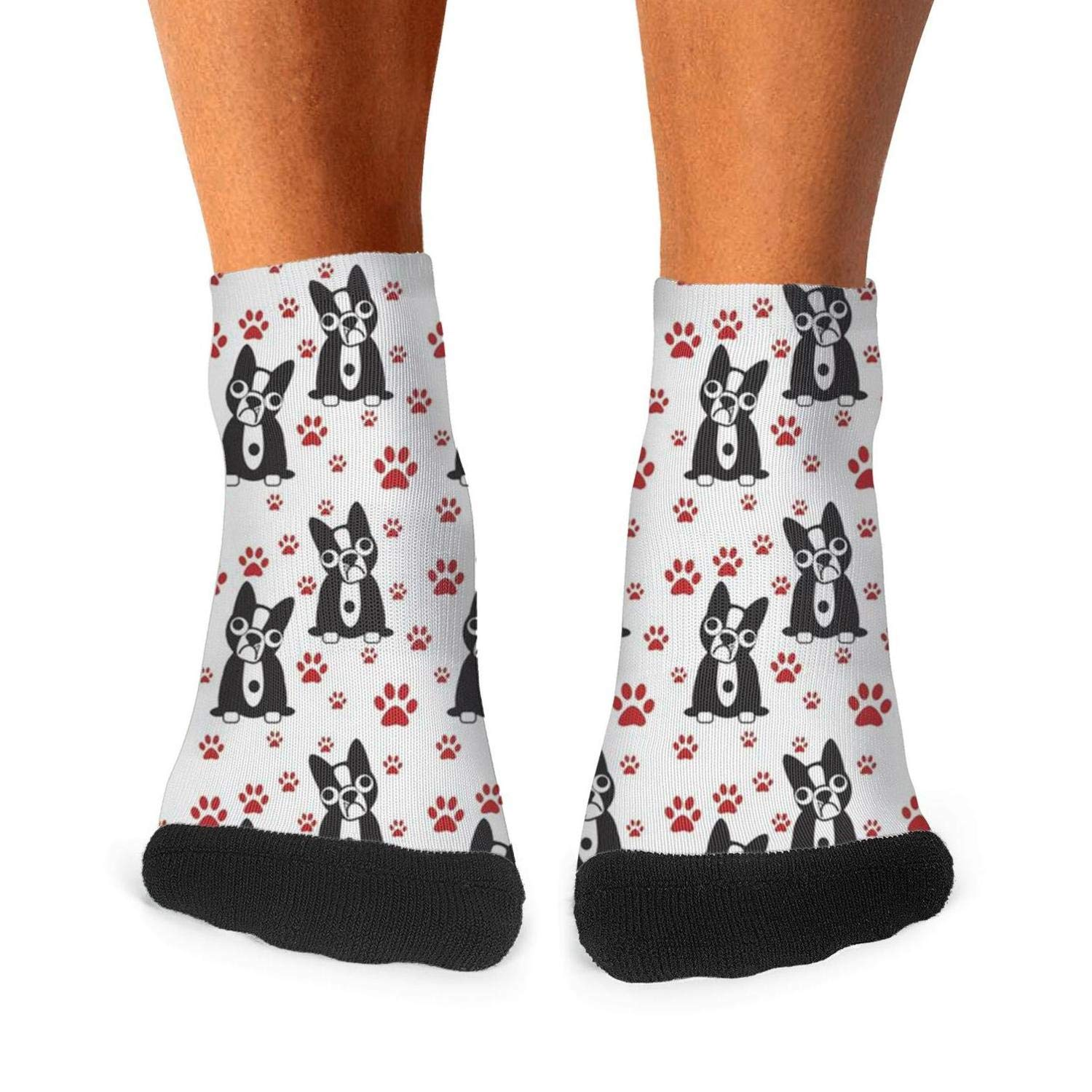 Mens athletic low cut Ankle sock Dog Puppy Short Breathable Sock