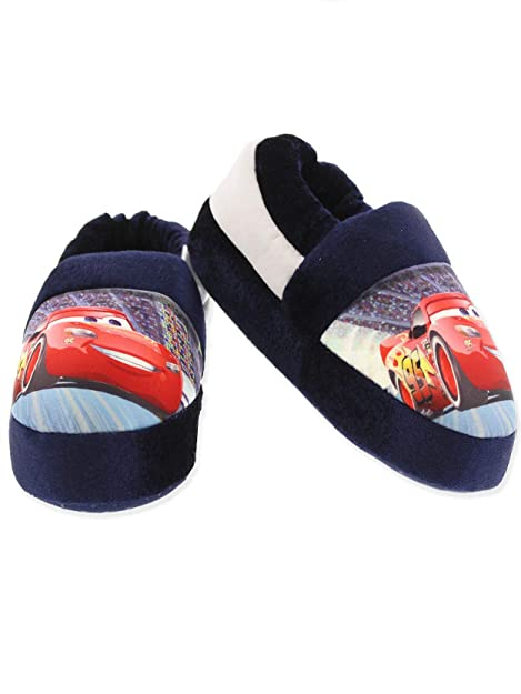 b3784ded7 Disney Cars Lightning McQueen Toddler Boys Plush Aline Slippers (5-6 M US  Toddler